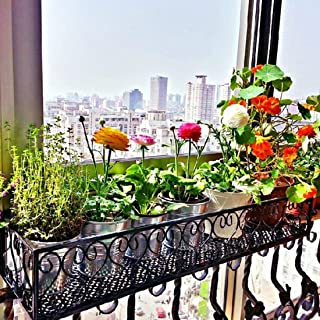Jiyaru Hanging Flower Pot Shelf Railing Stand Rack Balcony Plants Planter Holder 30cm (11.81