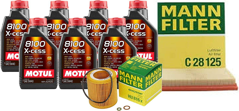 Newparts Max 87% OFF 7L 8100 XCESS 5W40 OFFer Filter F16 Air Oil Kit Change Motor