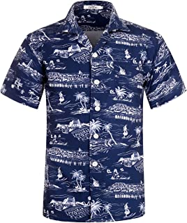 Men's Hawaiian Shirt Short Sleeve Aloha Shirt Beach Party Flower Shirt Holiday Print Casual Shirts L1