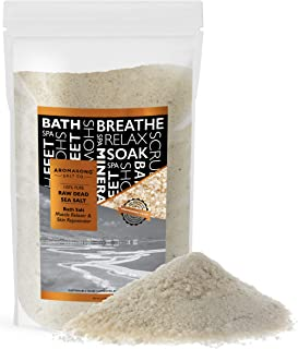 19 lbs Raw DEAD SEA SALT Not cleaned, still Contains all dead sea minerals Including Dead sea Mud, Fine Medium Grain Large resealable Bulk pack,