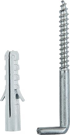 Dorn /Ø 16 mm Pollmann Baubeschl/äge 1110170 Haken J zum Einschrauben 105 mm lang hell verzinkt 2 St/ück