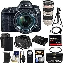 Canon EOS 5D Mark IV 4K Wi-Fi Digital SLR Camera & 24-70mm f/4L is USM + 70-200mm f/2.8L Lens + 64GB Card + Battery & Charger + Case + Filters + Tripod Kit