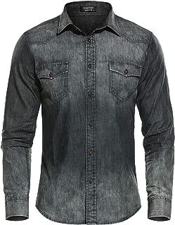 zipper denim shirt