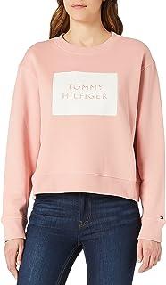 Tommy Hilfiger Relaxed T Box C-nk Sweatshirt LS Sudadera para Mujer