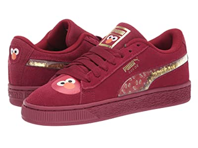 Puma Kids Sesame Street 50 Suede Statement (Big Kid) (Rhubarb/Puma White) Kids Shoes
