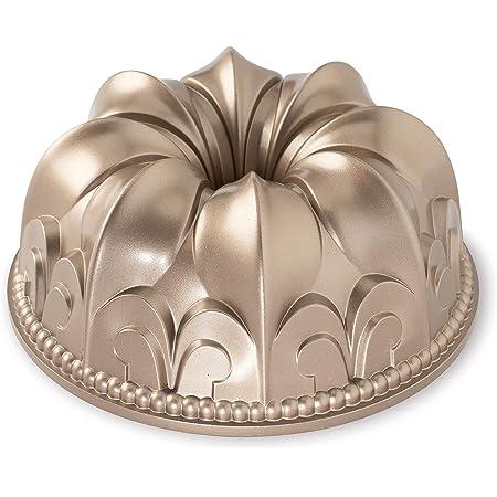 Nordic Ware Fleur De Lis Cast Aluminum Bundt Pan, 10 Cup, Toffee