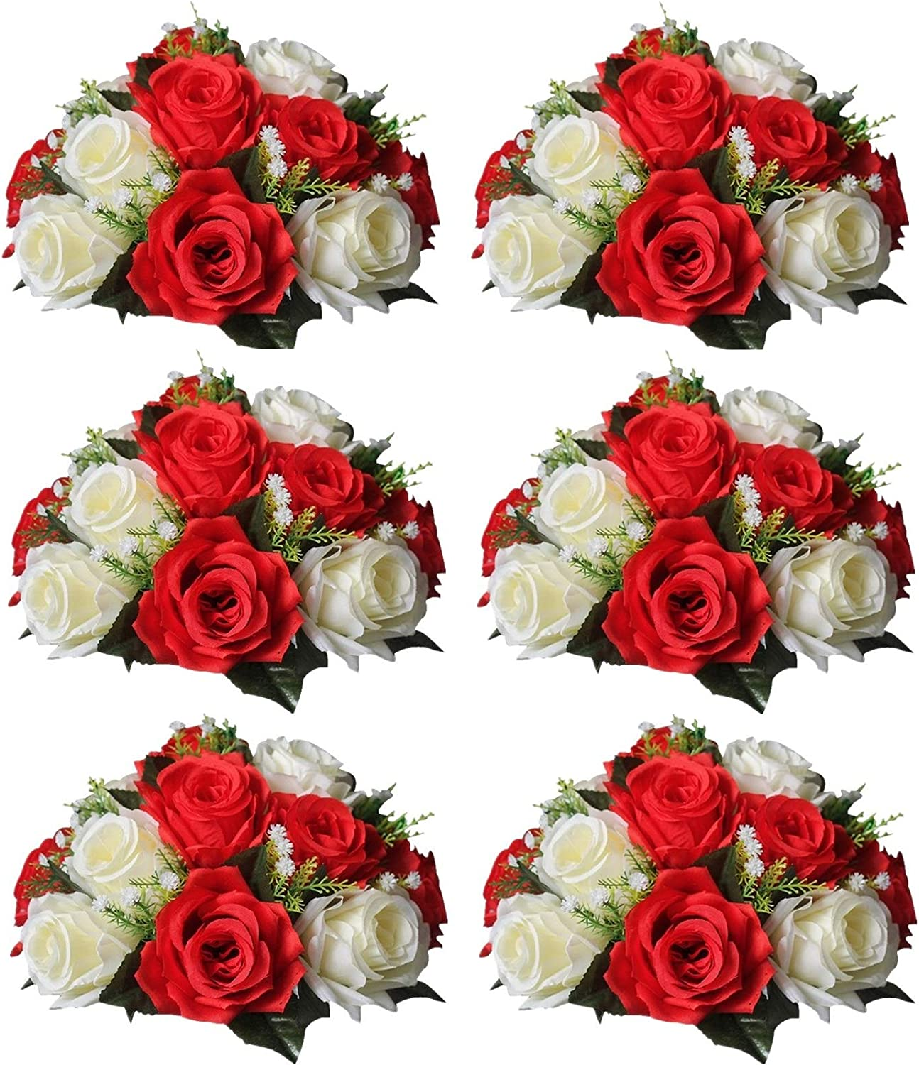 Sziqiqi Artificial Flowers Safety and trust New life Silk Centerp Wedding for Rose
