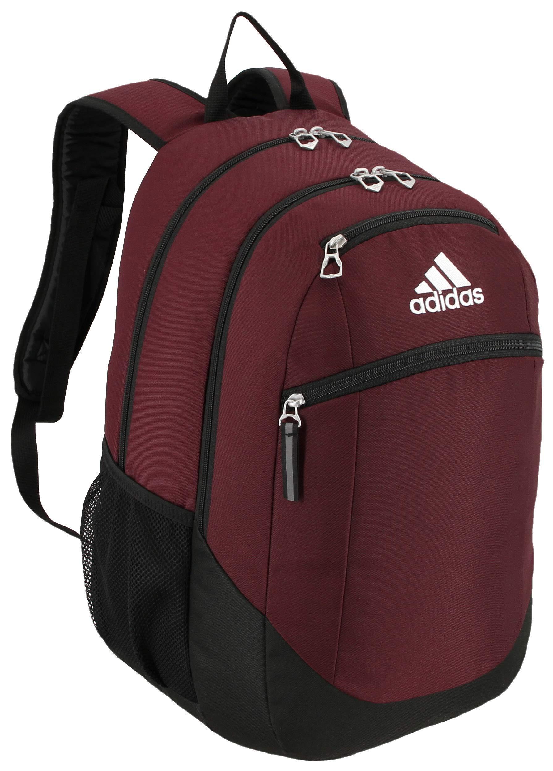 adidas Striker Backpack Maroon Black