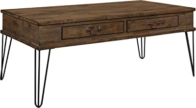 "Lexicon Oquin 44"" x 24"" Coffee Table, Rustic Oak/Black"