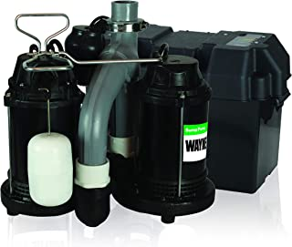 Wayne WSS30V Upgraded Combination 1/2 HP and 12-Volt Battery Back Up System (Renewed)