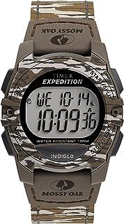 Timex x Mossy Oak Unisex Expedition Digital CAT 33mm Watch – Original Bottomland Camo Fabric Strap