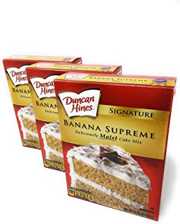 Duncan Hines Signature Cake Mix Banana Supreme 16.5oz (Pack of 3) by Duncan Hines Signature