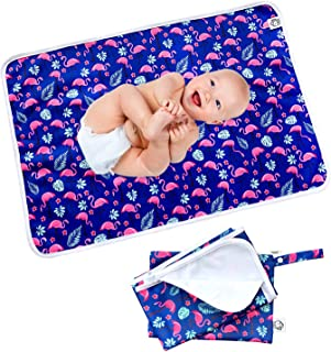 Flockthree Waterproof Baby Changing Pad with Storage Bag (28.7
