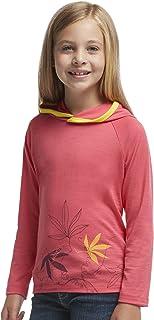 Icebreaker Tech t-Shirt /à Manches Longues pour Enfant Pull /à Capuche /à Capuche et Manches Longues pour Homme Passion Vines