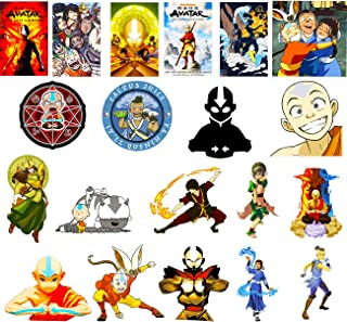 GTOTd Stickers for The Last Airbend 20-Pcs,Large Size Stickers Decals Vinyls for Laptop,Waterbottle,Teens,Cars, Gift,Figure Collection