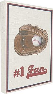 Stupell Industries número 1Ventilador de béisbol Grande Lienzo Pared Arte, Lienzo, Multicolor, 60,96x 3,81x 76,2cm