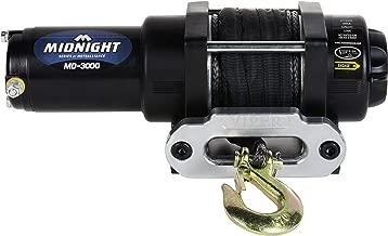 MotoAlliance VIPER Midnight ATV/UTV Winch 3000lb with 50 feet BLACK Synthetic Rope