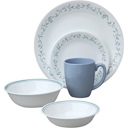 Amazon Com Corelle Livingware Country Cottage 30 Piece Dinnerware Set Service For 6 Dinnerware Sets
