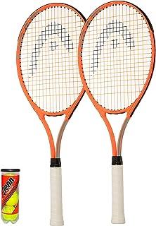 HEAD Radical Adult Tennis Racket Twin Set + Full Protective Covers & 3 Tennis Balls