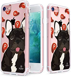 True Color Case Compatible with iPhone 7 Case - Clear-Shield French Bulldog My Lovely Pet Collection Printed on Clear Back - Soft and Hard Thin Shock Absorbing Protective Bumper Cover