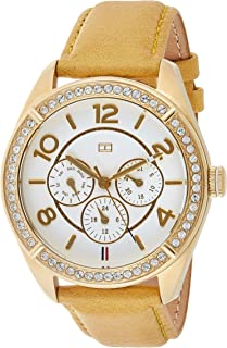 Tommy Hilfiger Womens Quartz Watch, Analog Display and Leather Strap 1781250