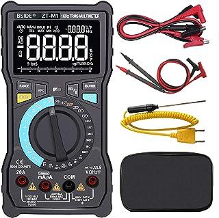 Bside ZT-M1 True RMS Auto/Manual Digital Multimeter 3-Line Display 8000 Counts Auto-Ranging DMM VFC Temperature Capacitanc...
