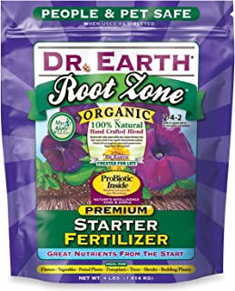 Dr. Earth 701P Organic 2 Starter & Transplant Fertilizer Poly, 4-Pound