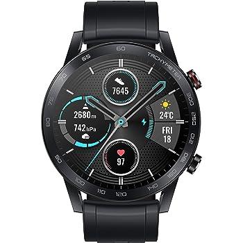 HONOR MagicWatch 2 46 mm Smart Watch, Fitness-Aktivitätstracker mit Herzfrequenz- und Stressmonitor, Übungsmodi, Lauf-App und eingebautem Lautsprecher und Mikrofon, Schwarz/Anthrazit