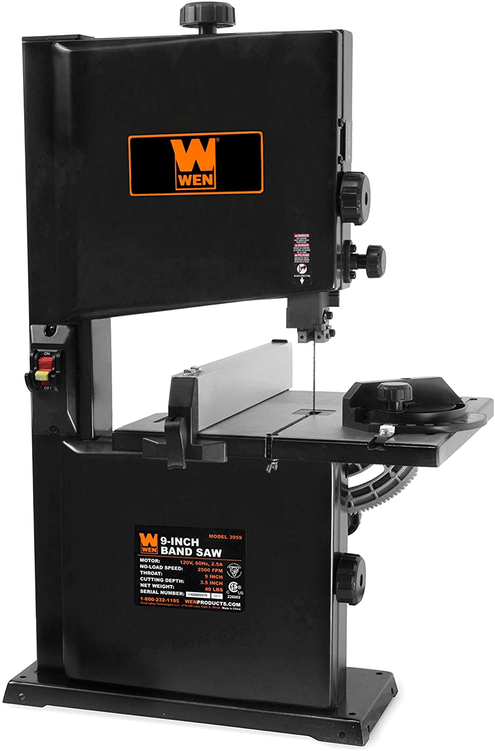WEN 3959T 2.5-Amp 9-Inch Benchtop Band Saw