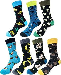comprar comparacion Abogel Calcetines Divertidos Hombres, Fantasía De La Tripulación Colorido patrón Calcetines para Hombre 39-46