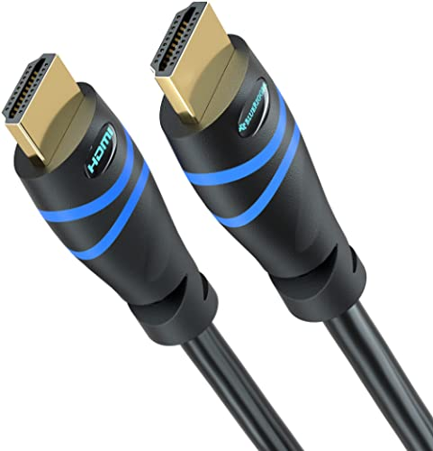 4K HDMI Cable 15FT/4.5M, BlueRigger (4K 60Hz HDR,HDMI 2.0, High Speed 18Gbps, in-Wall CL3 Rated) - Compatible with PS...