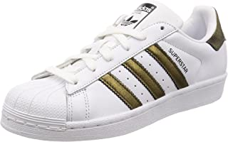 adidas, Superstar Foundation Shoes, Women's Shoes, White/Black/Black, 5.5 US
