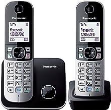 Panasonic KX-TG6812EB Twin DECT Phone - Black/Silver