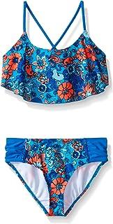 Kanu Surf Girls' Karlie Flower Flounce Bikini Swimsuit