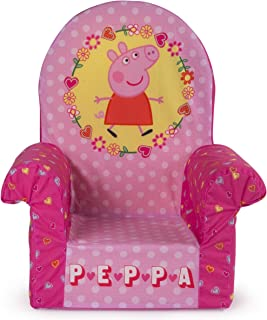 Marshmallow Furniture, Children's Foam High Back Chair, Peppa Pig, by Spin Master