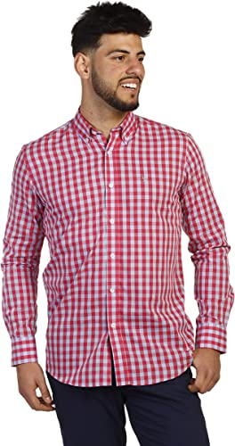 THE TIME OF BOCHA Man Shirt Boton rouge Taille grand