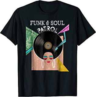 FUNK & SOUL PATROL 70s 80s Vintage Afro Graphic Music Shirt