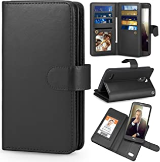 TILL for LG Stylo 3 / LG Stylo 3 Plus Case, TILL LG Stylus 3 Wallet Case PU Leather Carrying Flip Cover [Cash Credit Card Slots Holder & Kickstand] Detachable Magnetic Folio 3D Full Case Shell [Black]