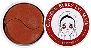 Shangpree Marine Energy Eye Mask/Ginseng Berry Eye Mask Anti-aging Hyaluronic Acid Eye Patches for Anti Aging,Dark Circles and Puffiness, 30 pairs (Red)