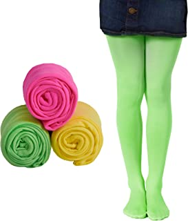 Girls Microfiber Tights 3-Pack Multiple Colors