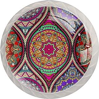 Vintage Hiple Mandala patrón 4 piezas ABS vidrio gabinete botones botones botones botones de aparador