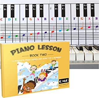 Piano Lessons Book2 and Color Coded Piano Note Chart: Piano