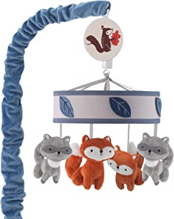 Sponsored Ad - Lambs & Ivy Little Campers Musical Baby Crib Mobile - Blue, White, Animals