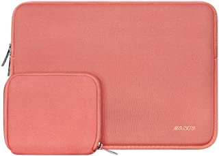 MOSISO Water Repellent Neoprene Sleeve Bag Cover Compatible 13-13.3 Inch Laptop with Small Case, Living Coral