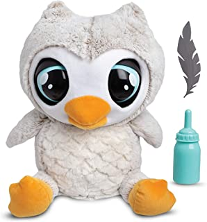 FAO Schwarz Hoots The Interactive Animated Talking Owl Plush Toy for Kids, Automatic Electronic Robotic Touch-Activated Doll with Giggle, Sleep, and Sneeze Sounds; Comes with Baby Bottle and Leaf