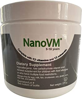 Solace Nutrition NanoVM 9-18 (275g) Flavorless Powdered Hypoallergenic, Carbohydrate Free Vitamin & Mineral Supplement, De...