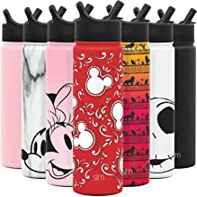 Simple Modern Disney 22oz oz Summit Water Bottle with Straw Lid - Gifts for Men & Women Hydro Vacuum Insulated Flask Double Wall Liter - 18/8 Stainless Steel Disney: Mickey Bandana
