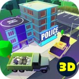 Police Station Block Building: Pixel Cops and Robbers | Heavy Machines Site Location Construction Simulator