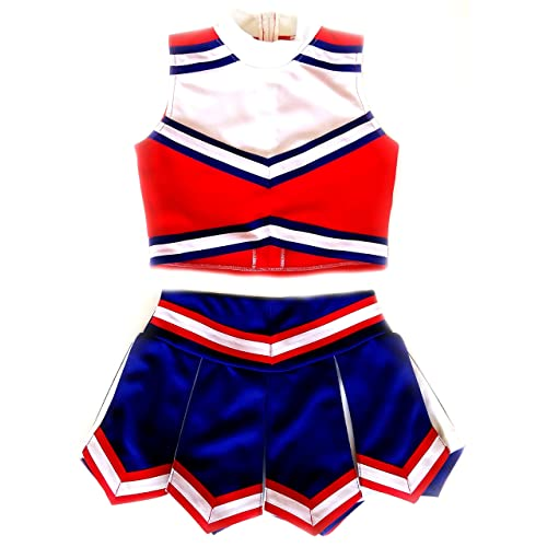 71613a003 Girls' Cheerleader Cheerleading Outfit Uniform Costume Cosplay