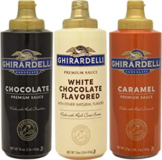 Ghirardelli Squeeze Bottles – Caramel, Chocolate & White Chocolate – Set of 3